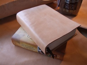 Exhibit C - Natural Lifetime Leather bound to new Study Bible - $50. Enhances the quality and preserves the Bible for life. This was a gift for someone special!