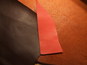 New Specialty Leathers: Dark Chocolate Italian (2mm), Burnt Orange Italian (2mm), Oil Tanned Brown (6-7mm) - add $20 to base pricing for Specialty Leathers